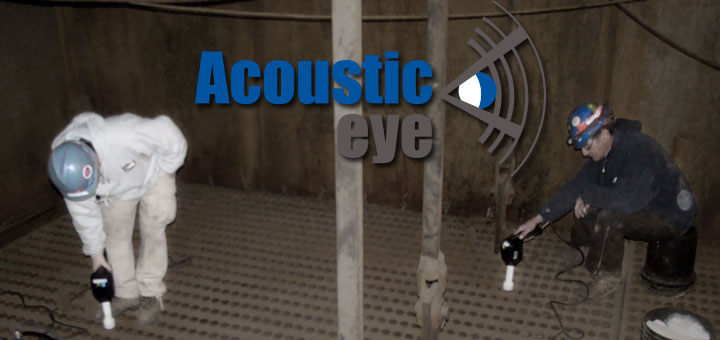 Acoustic Eye Inspection being performed